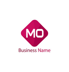 initial letter mo logo template design vector image