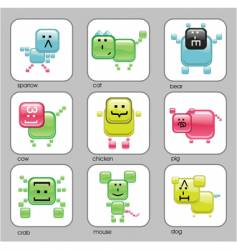 internet animals vector image
