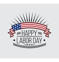 Labor Day National holiday of the United States vector image