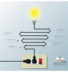 Light Bulb Electric Line Education Infographic vector