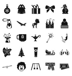 Little people icons set simple style vector