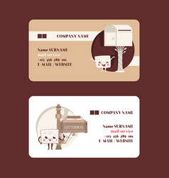 Mail box envelope business card post vector