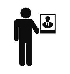 man present candidate icon simple style vector image