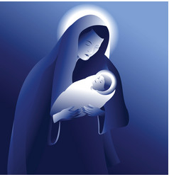 maria with baby jesus vector image