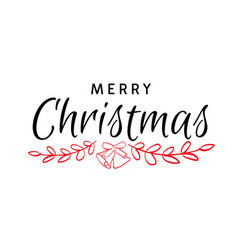 Merry christmas hand drawn text vector