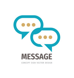 Message talking - speech bubbles business vector