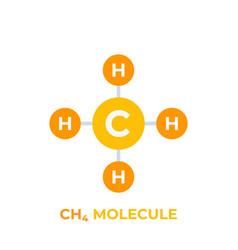 Methane molecule icon vector