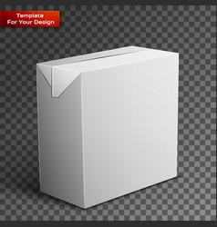 milk juice beverages carton package blank vector image