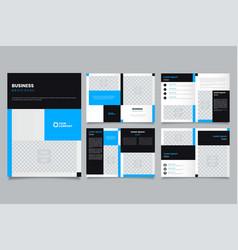 minimalist blue brochure layout template vector image