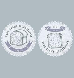 monochrome labels design vector image