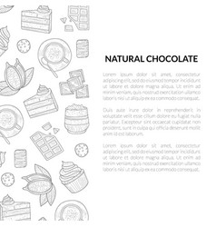 natural chocolate banner template with hand drawn vector image