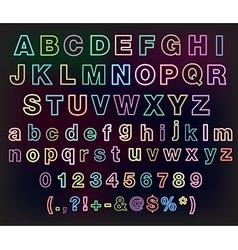 Neon glow alphabet set for your design vector image