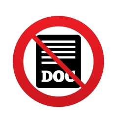 No File document icon Download doc button vector