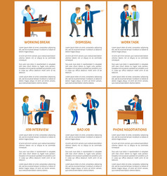 Office work process professional relationships vector