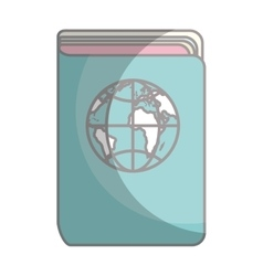 Passport document isolated icon vector