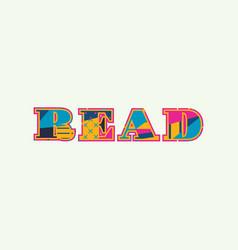 Read concept word art vector