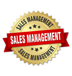 Sales management round isolated gold badge vector