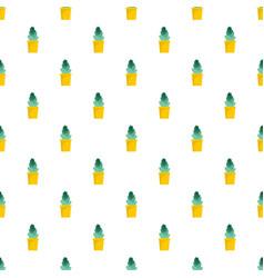 sand cactus pot pattern seamless vector image