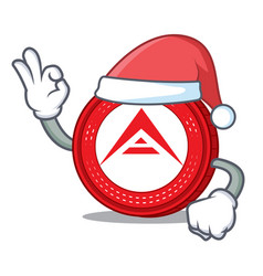 Santa ark coin mascot cartoon vector