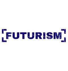 Scratched textured futurism stamp seal between vector