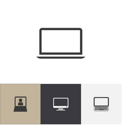 Set of 4 editable gadget icons includes symbols vector