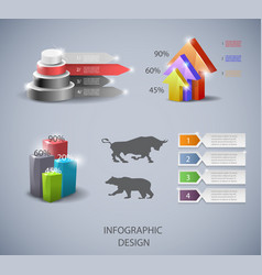 Set of design elements for infographic or vector