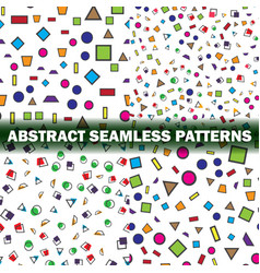 Set of four abstract seamless pattern simple vector