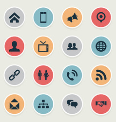 Set simple network icons vector