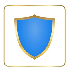 Shield gold icon white vector image