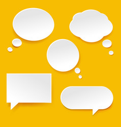 speech bubble set vector image