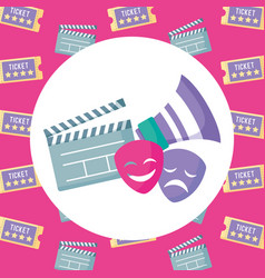 theater faces design vector image