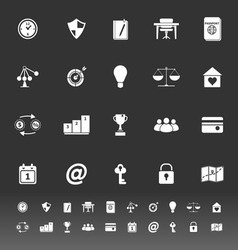 Thinking related icons on gray background vector