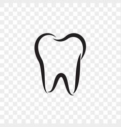 tooth logo icon dentist stomatology dental vector image