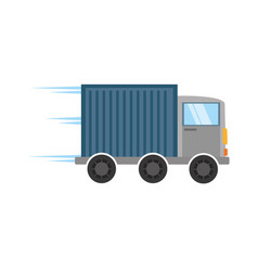 truck delivery transport design vector image