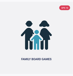 Two color family board games icon from people vector