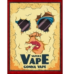 Vape Colored Poster vector