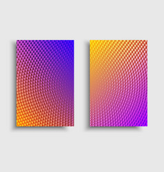 Vibrant brochure effect vector