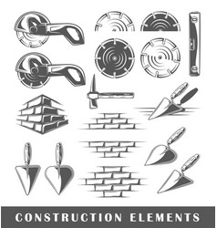 vintage construction elements vector image