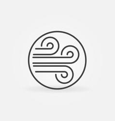 Wind flows inside circle concept outline vector