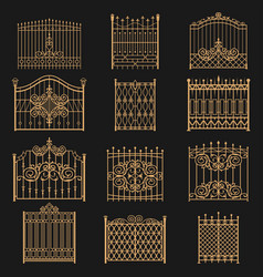 wrought iron gate vector image