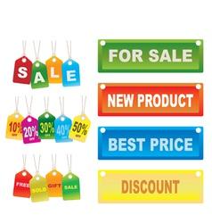 cardboard sales tags vector image vector image