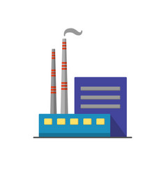coal power plant icon in flat style vector image vector image