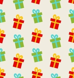 Seamless Pattern with Colorful Gift Boxes for vector image vector image