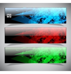 Smooth colorful abstract techno banners vector image vector image