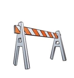 Cartoon Traffic Barrier vector image
