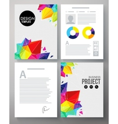 Colorful geometric template for a company project vector image vector image