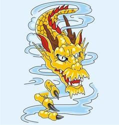 dragon art vector image