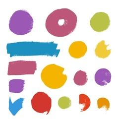 Grunge brush set vector image vector image
