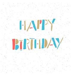 happy birthday retro card vector image vector image