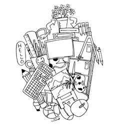 school education doodle art vector image